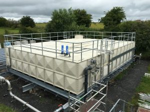 sectional water storage tank