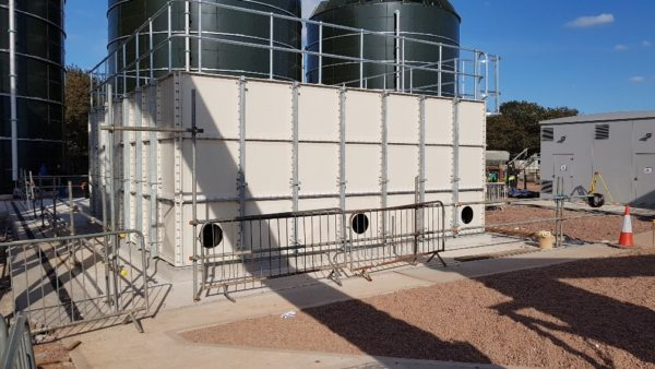 lava rock odour control grp water tank