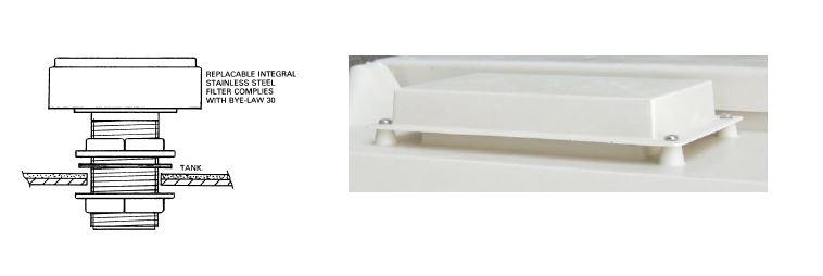Screened air inlet vent