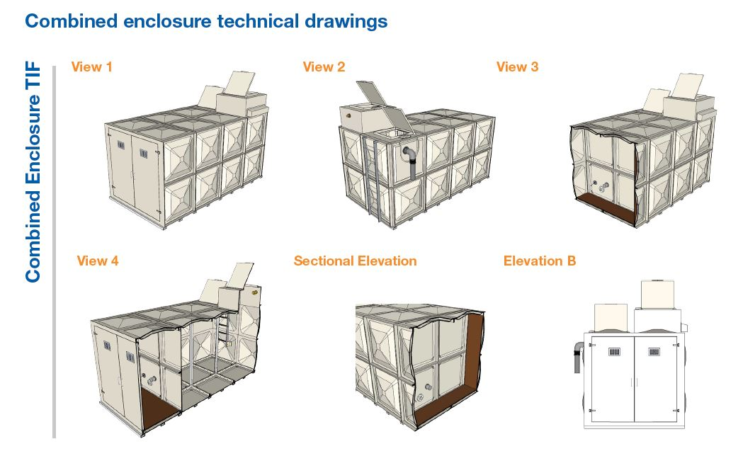 combined enclosure drawings