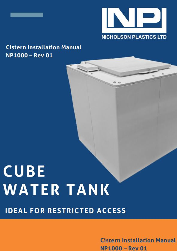 cube self assembly grp water tank