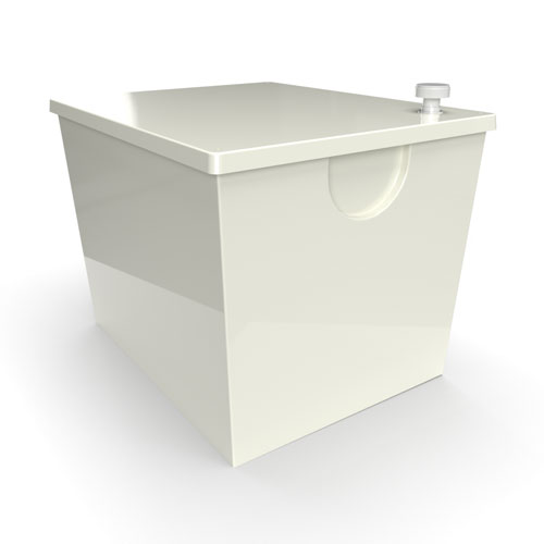 GRP one piece cold water storage tank 570 litre