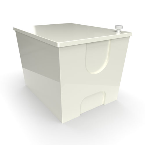 GRP one piece cold water storage tank 970 litre