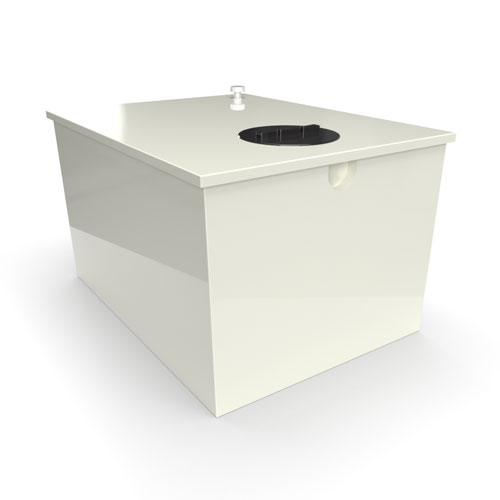 GRP one piece cold water storage tank 1590 litres