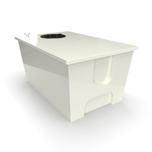 GRP one piece cold water storage tank 1140 litre