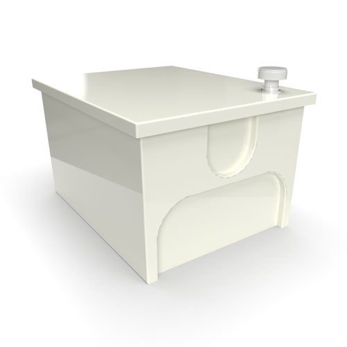GRP one piece cold water storage tank 140 litre