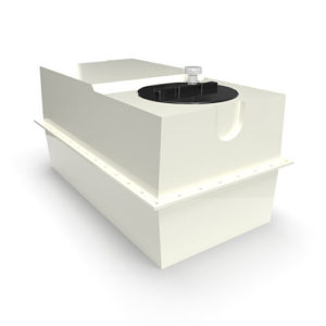 two part grp cold water storage tank 454 litres