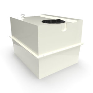 two part grp cold water storage tank 910 litres