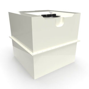 two part grp cold water storage tank 1000 litres