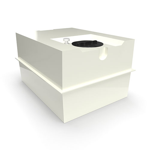 two part grp cold water storage tank 1590 litres