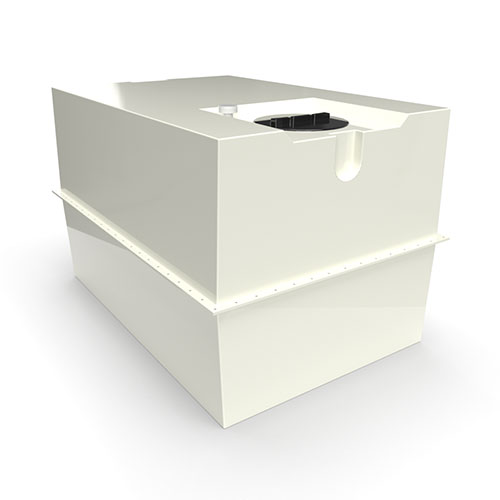 two part grp cold water storage tank 2730 litres