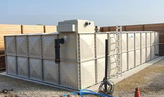 Internally Flanged Base GRP Tank